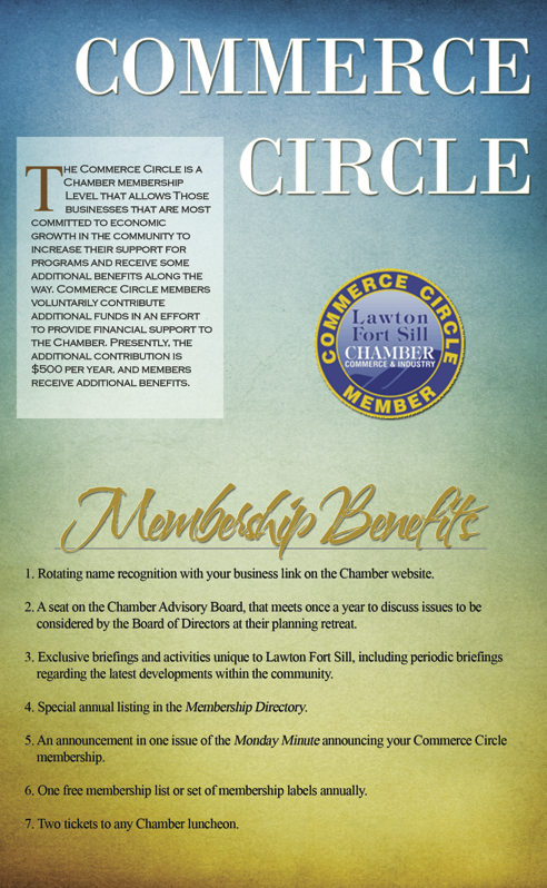 Lawton Fort Sill Chamber Of Commerce Commerce Circle
